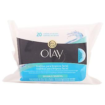 Olay Sensitive Wipes Essentials 20 (Woman , Cosmetics , Skin Care , Facial Cleansing)