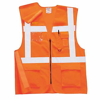 Portwest - Hi-Vis Safety Workwear Executive Rail Vest Rail Track Side RIS