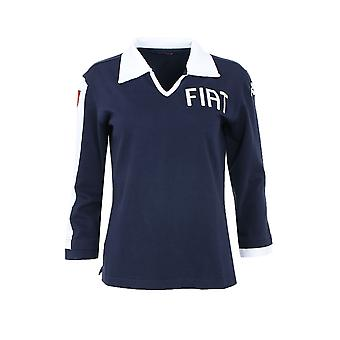 Kappa FIAT sweater ladies Polo Shirt Blue with logo print