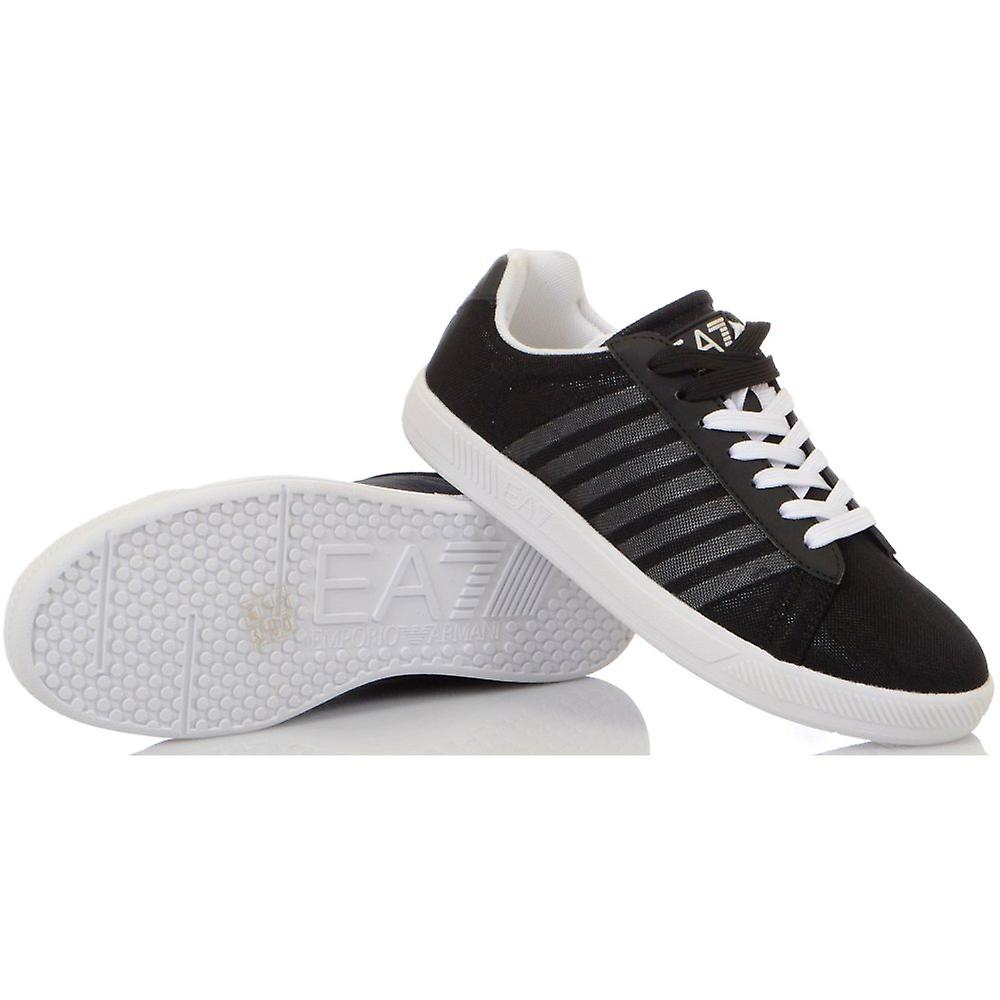 EA7 by Emporio Armani 7 Line Canvas Black Trainer
