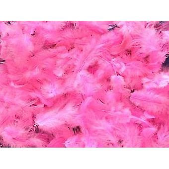5g Cerise Pink Fluffy Craft Feathers | Scrapbooking Card Making Embellishments