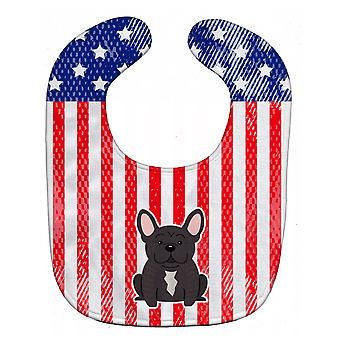 Carolines Treasures  BB3004BIB Patriotic USA French Bulldog Brindle Baby Bib