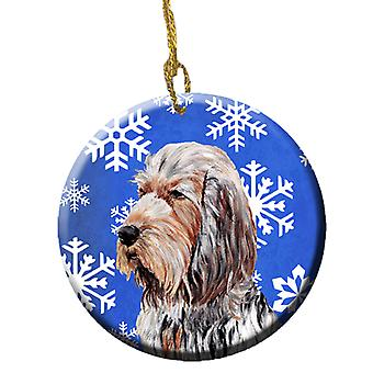 Carolines Treasures  SC9780CO1 Otterhound Winter Snowflakes Ceramic Ornament