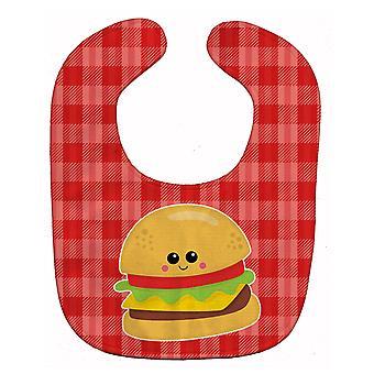 Carolines schatten BB7042BIB Hamburger gezicht Baby slabbetje