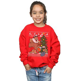 The Flintstones Girls Christmas Fair Isle Sweatshirt