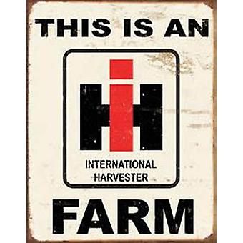 International Harvester Farm rusted metal sign     (de)