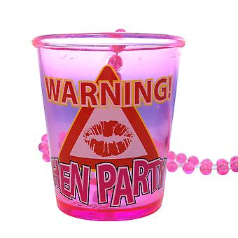 Warning Hen Party Shot Glass Necklace - Perfect For Your Hen Night!