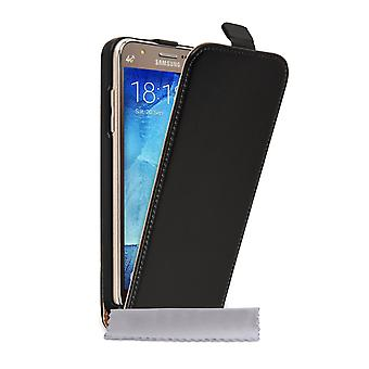 Caseflex Samsung Galaxy J5 Real Leather Flip Case - Black