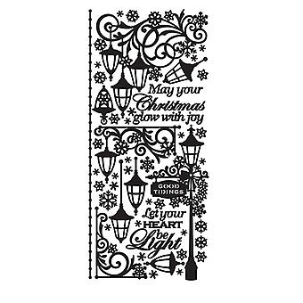 Dazzles Stickers-Christmas Lantern-Black, Clear Foil DAZ-2592