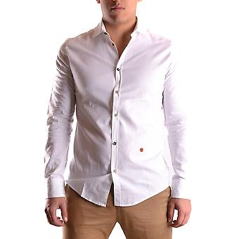 Daniele Alessandrini men's MCBI086498O white cotton shirt