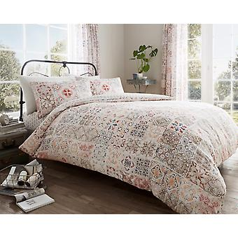 Amira Vintage Floral Duvet Quilt Cover Polycotton Printed Bedding Set All Sizes