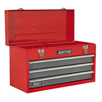 Sealey Ap9243Bb Tool Chest 3 Drawer Portable With Ball Bearing Runners Red/Grey