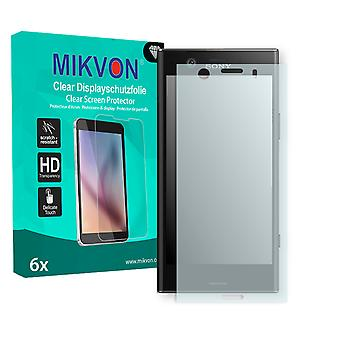 Sony Xperia XZ1 Compact Screen Protector - Mikvon Clear (Retail Package with accessories) (intentionally smaller than the display due to its curved surface)