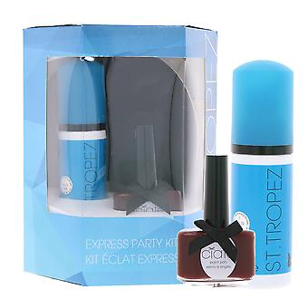 ST TROPEZ express party Kit gift set red 63.5 ml