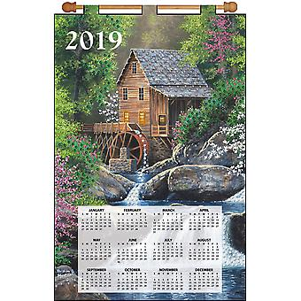 Design Works 2019 Calendar Felt Applique Kit-Watermill DW4311