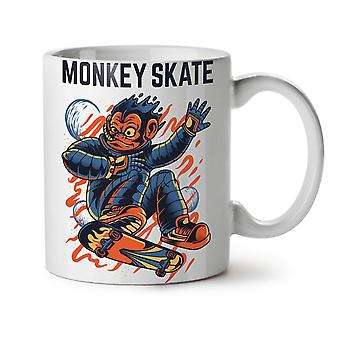 Monkey Skate NEW White Tea Coffee Ceramic Mug 11 oz | Wellcoda