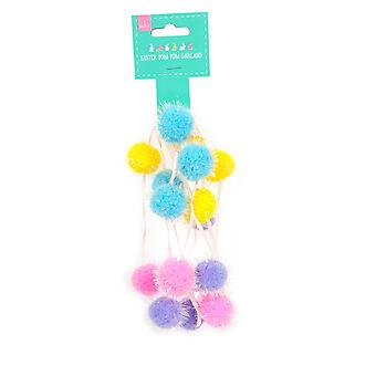 Easter Garland Pompom Party Decoration Accessory/ Supplies 2m
