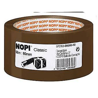 Packaging tape Nopi® Brown (L x W) 66 m x 50 mm tesa