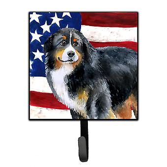 Bernese Mountain Dog Patriotic Leash or Key Holder