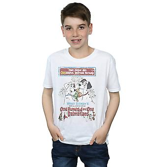 Disney Boys 101 Dalmatians Retro Poster T-Shirt