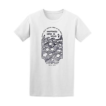 Happiness Comes In Waves Retro Surfing Tee - Image by Shutterstock