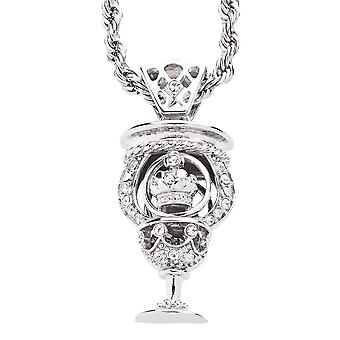 Iced Out Bling Hip Hop Kette - CROWN CUP