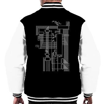 Dragon 32 Computer Schematic Men's Varsity Jacket
