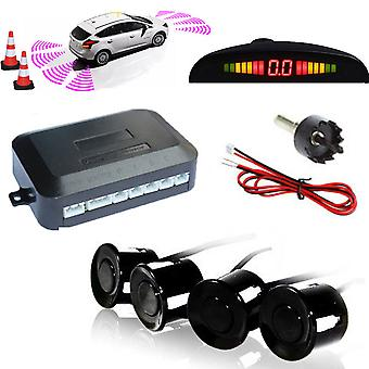 Kabalo Wireless Car Parking Rear Reverse 4 Sensors Kit Buzzer Radar LED Display Audio Alarm