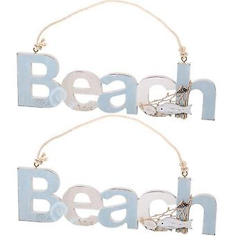 Something Different Beach Hanging Signs (Set Of 2)