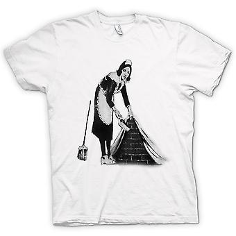 Mens T-shirt - Banksy Graffiti Art - Maid
