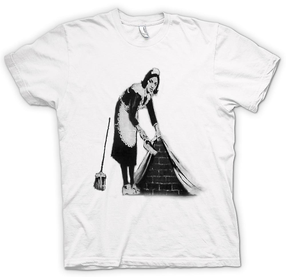 Womens T-shirt - Banksy Graffiti Art - Maid