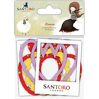 Santoro Kori Kumi Laser Cut Wood Shapes 8/Pkg-Frames, 4 Designs/2 Each SKKWDNS1