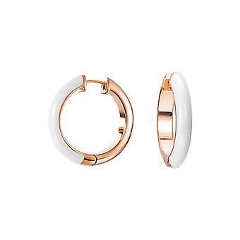 ESPRIT women's earrings Creole stainless steel Rosé Fancy white ESCO11657G000