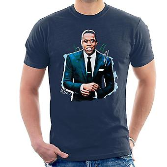 Sidney Maurer Original Portrait Of Jay Z Suit Men's T-Shirt