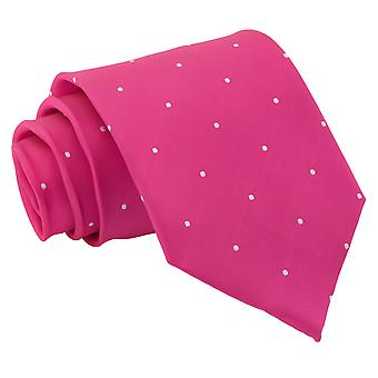 Hot Pink Pin Dot Classic Tie