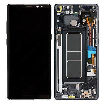 Ekte svart Samsung Galaxy Note 8 SM-N950 LCD-skjerm