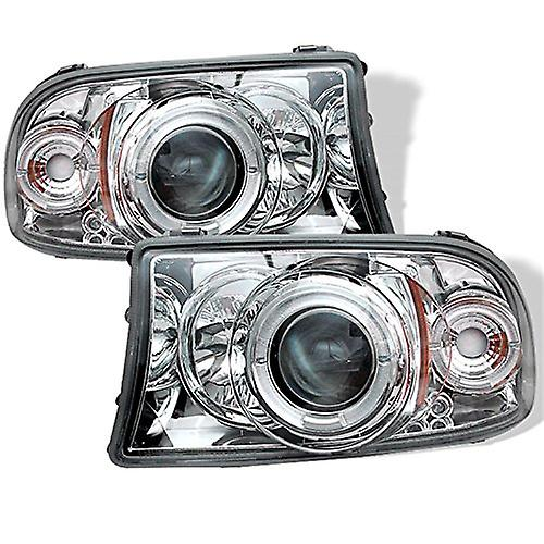 Spyder Auto Dodge Dakota Durango Chrome Halogen Projector Headlight