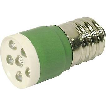 LED bulb E14 Green 24 Vdc, 24 V AC 3150 mcd CML