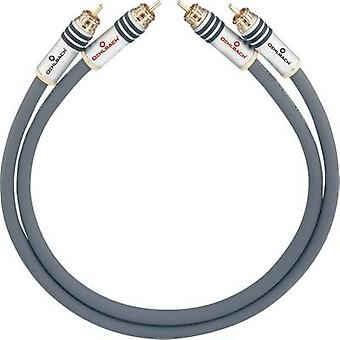 Oehlbach RCA Audio/phono Cable [2x RCA plug (phono) - 2x RCA plug (phono)] 3.50 m Anthracite gold plated connectors