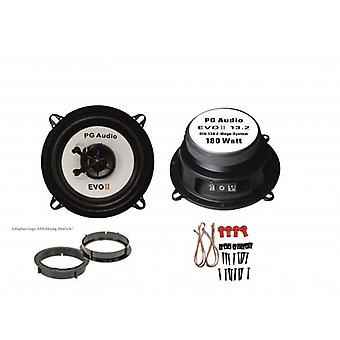 13cm coax 2-way coax, Volvo S40/V40, speaker door front incl. adapter rings