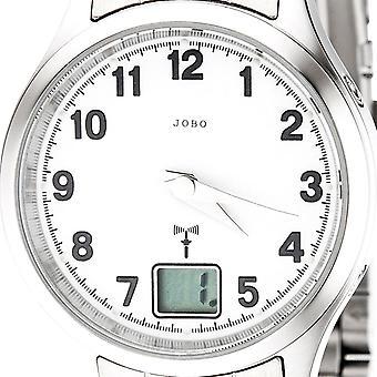 JOBO Dameur rustfrit stål dato mineral krystal damer ur