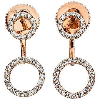 Örhängen Örhängen 925 sterlingsilver guld pläterad med cubic zirconia örhängen