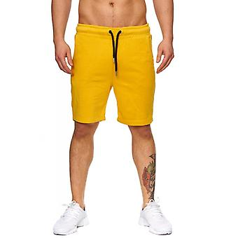 Tazzio fashion hommes de bermudas & shorts jaune moutarde