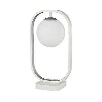 Maytoni Lighting Avola Modern Table Lamp, White + Silver