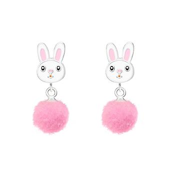 Rabbit - 925 Sterling Silver Colourful Ear Studs - W37164X
