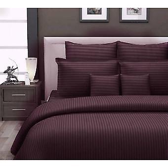 1000 Tc-100% Cotton Stripe Bed Sheet Set-chocolate