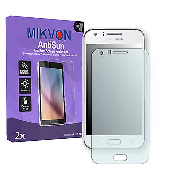 Samsung Galaxy J1 LTE (SM-J100FN) Screen Protector - Mikvon AntiSun (Retail Package with accessories)