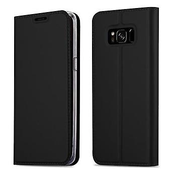 Cadorabo sleeve for Samsung Galaxy S8 PLUS - mobile case with stand function and compartment in the metallic look - case cover sleeve pouch bag book Klapp style