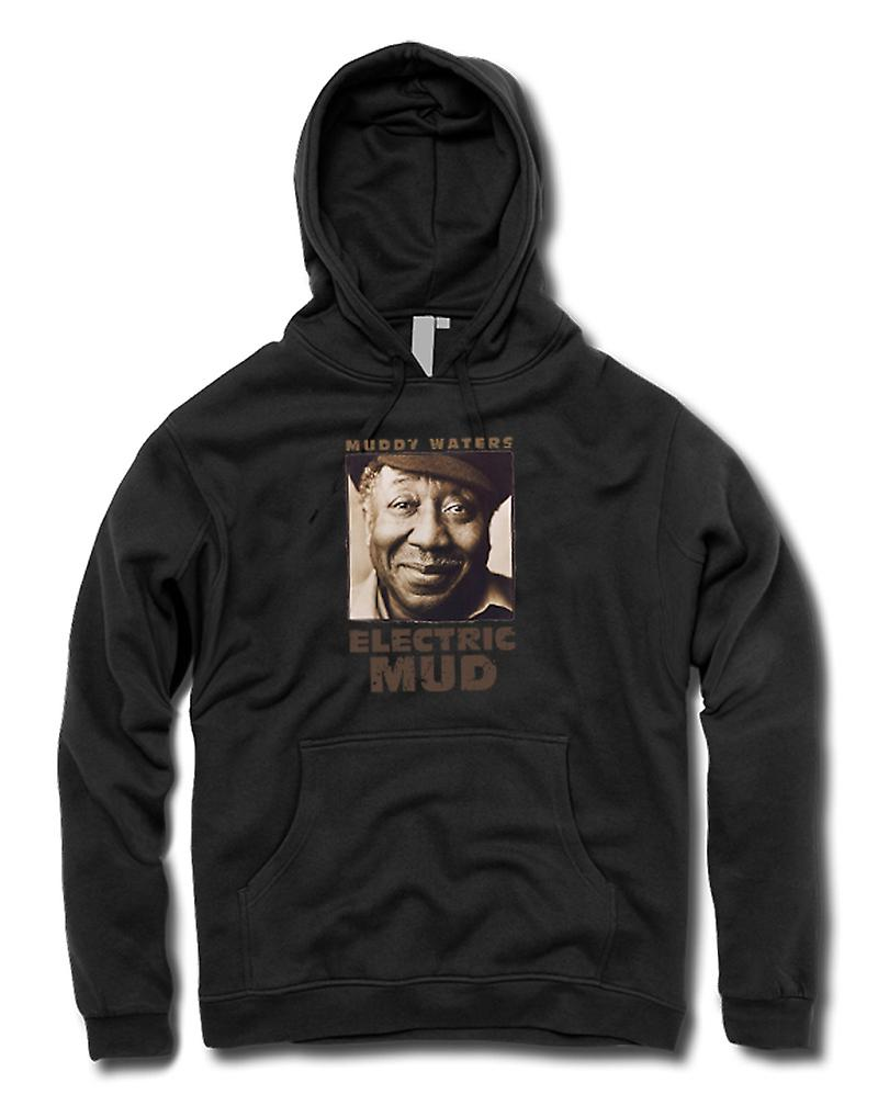 Mens Hoodie - Muddy Waters électriques boue Blues - Guitar - Icon