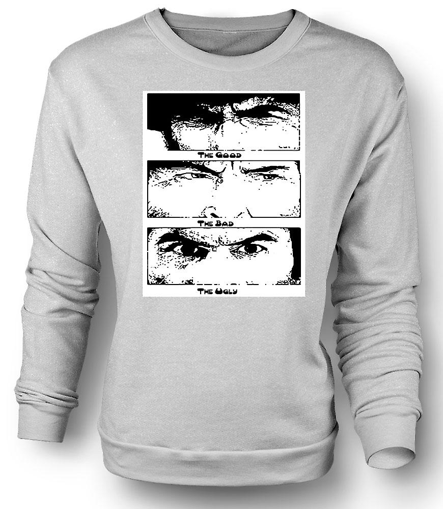 Mens Sweatshirt gute Bad and the Ugly - BW